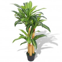 Planta de drácena artificial con maceta 100 cms verde