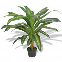 Planta de drácena artificial con maceta 90 cms verde