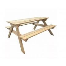 Mesa de picnic de madera de pino
