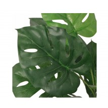 Planta de monstera artificial con maceta verde 45 cms