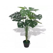 Planta de monstera artificial con maceta verde 70 cms