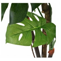 Planta de monstera artificial con maceta verde 130 cms