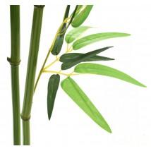 Árbol de bambú artificial con maceta 175 cms verde