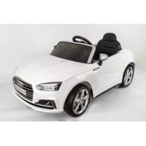 Coche eléctrico Audi S blanco con radio control