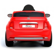 Coche eléctrico Fiat 500 rojo con radio control