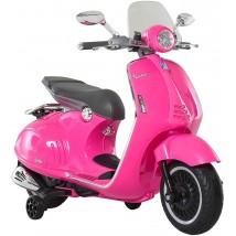 Moto eléctrica Vespa rosa