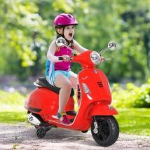 Moto eléctrica Vespa roja