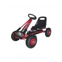 Coche a pedales Go-Kart para niños rojo