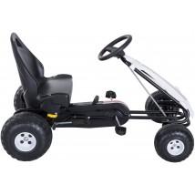 Coche a pedales Go-Kart para niños blanco