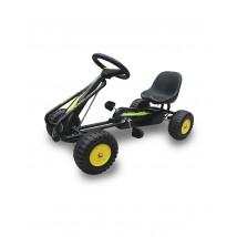 Coche a pedales Go-Kart para niños negro