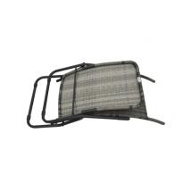 Tumbona plegable de ratán sintético gris, modelo Ragan