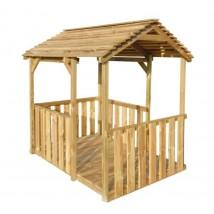 Casa de juegos de jardín de madera de pino,Modelo Simtal