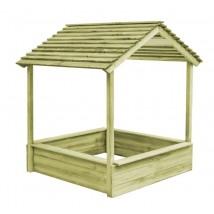 Casa de juegos de jardín con cajón de arena madera de pino,Modelo Ares