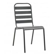 Mesa y sillas bistró de jardín 3 piezas acero gris oscuro,Modelo Soreo 3