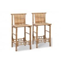 Taburetes de exterior, modelo Bambú (Pack de 2 Uds)