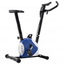 Bicicleta estática con resistencia azul