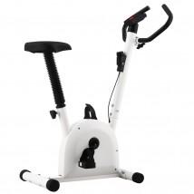 Bicicleta estática con resistencia blanca