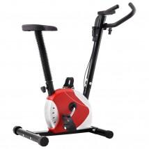Bicicleta estática con resistencia roja