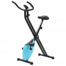Bicicleta estática magnética azul