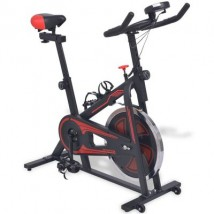 Bicicleta de spinning con sensores de pulso