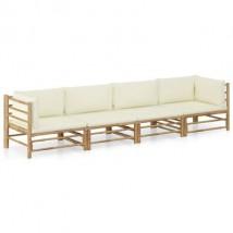 Sofá de dos piezas de bambú, modelo Bamboo 4 Plazas