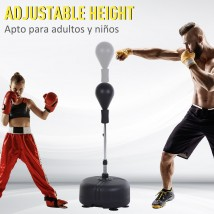Saco de boxeo con altura ajustable