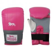 Guantes de boxeo color rosa y gris