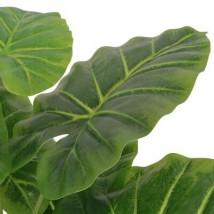 Planta de taro artificial con macetero 70 cm verde