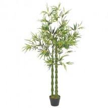 Planta artificial bambú con macetero 160 cm verde