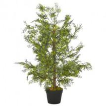 Planta artificial árbol ciprés con macetero 90 cm verde
