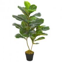 Planta artificial ficus con macetero 90 cm verde