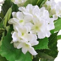 Planta artificial hortensia con macetero 60 cm blanca