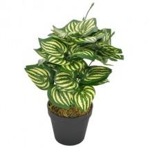 Planta artificial hojas de sandía con macetero verde 45 cm