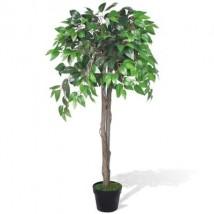 Planta de ficus artificial en maceta, 110 cm