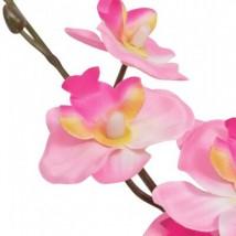 Planta artificial orquídea con macetero 30 cm rosa