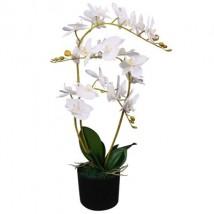 Planta artificial orquídea con macetero 65 cm blanca