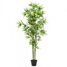 Planta de bambú artificial con maceta 175 cm verde