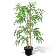 Planta de bambú artificial Twiggy con macetero 90 cm