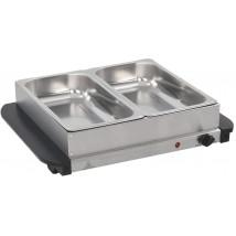Calientaplatos para bufé 2 x 2,5 litros