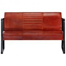 Sofá de 2 plazas cuero, modelo Margit Marrón