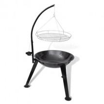 Barbacoa de carbón colgante, redonda, modelo Pendul