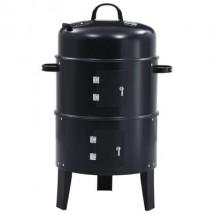 Barbacoa ahumador de carbón 3 en 1, modelo Threeone