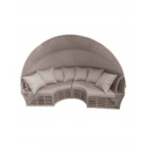 Set Sol en Rattan de color gris