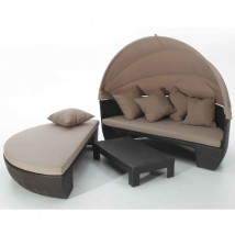Set en Rattan de color chocolate