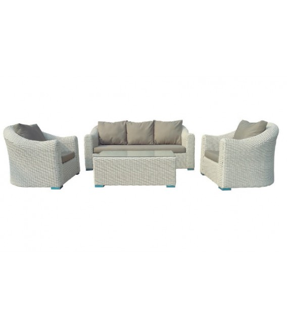 Rattan de color blanco