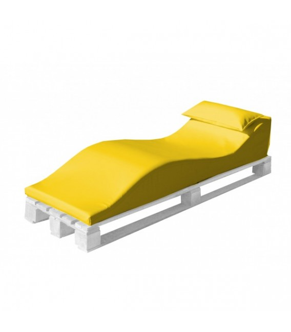 Tumbona con estructura de palet