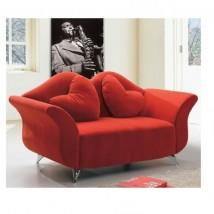 Sofá de diseño, tejido rojo