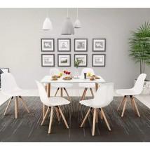 Noruega IV Conjunto de sillas y mesa estilo Nórdico