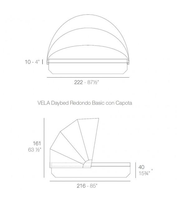 Vela Daybed Basic Redonda Parasol