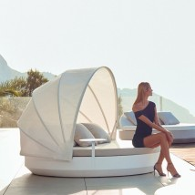 Vela Daybed Basic Redonda Parasol Reclinable